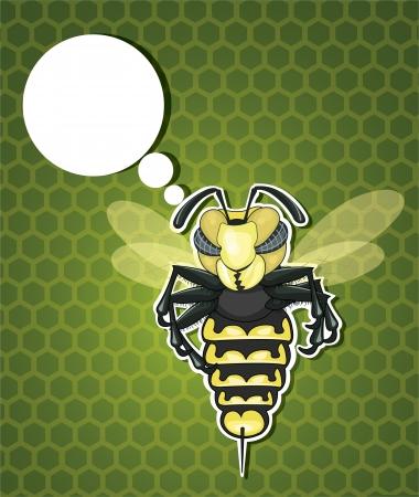 Thinking Bee Vector