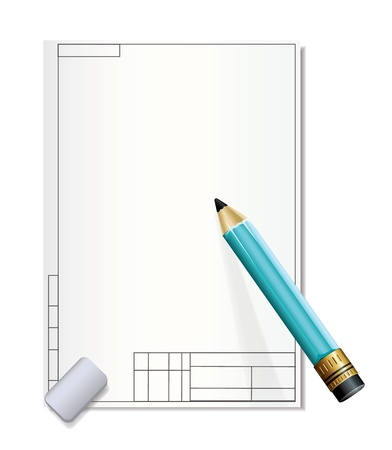 Drawing Paper and Pencil Stock Vector - 19716417