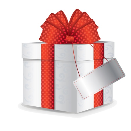 cartoon present: Gift Box With Red Bow