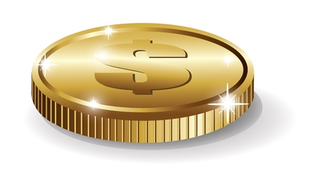 One Coin Stock Vector - 19881679