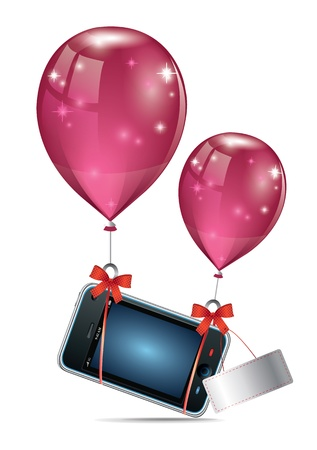 Gift Mobile Phone Vector
