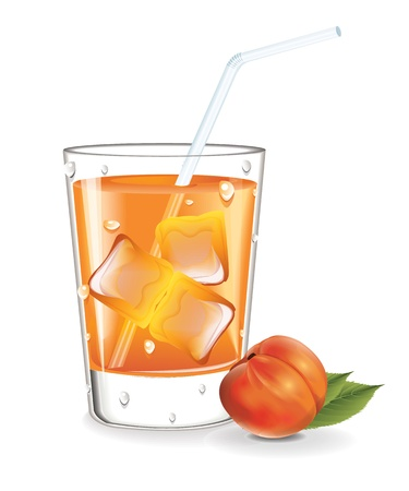 verre de jus d orange: jus de pêche