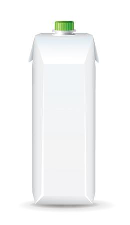 envase de leche: Plantilla de la caja Juice Vectores
