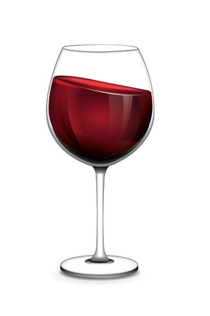 wine glass: Glass of wine