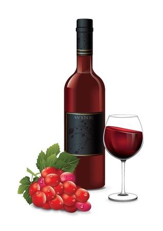 winetasting: Glass Wine Grapes