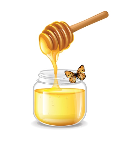 honey jar: Honey