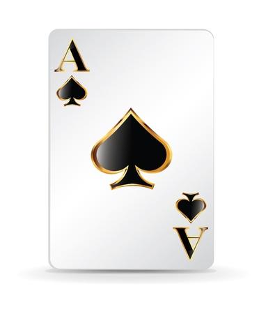 jeu de carte: Spades carte à jouer