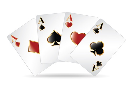 poker hand: Four Aces