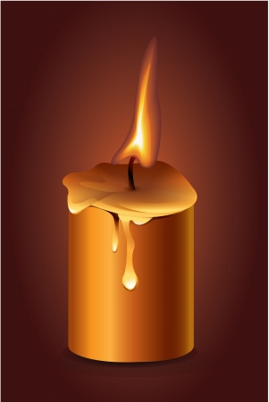 advent candles: Candle on dark background Illustration