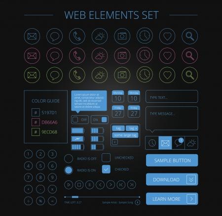 ios: �l�ments web propres d�finies noir