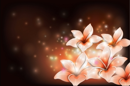 lily leaf: Dark Background Lily