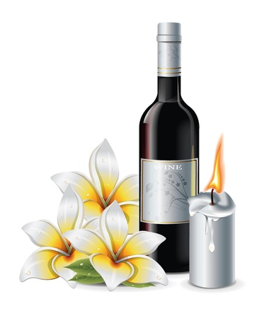 Wine Flower Candle