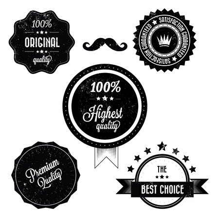 Collection of Premium Quality Retro Vinatge Labels  Stock Vector - 20295649