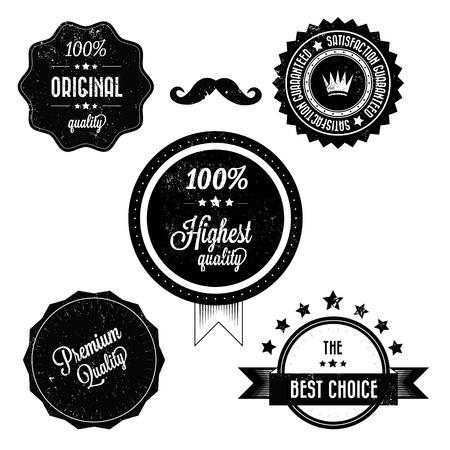 Sammlung von Premium Quality Retro Vinatge Labels Illustration
