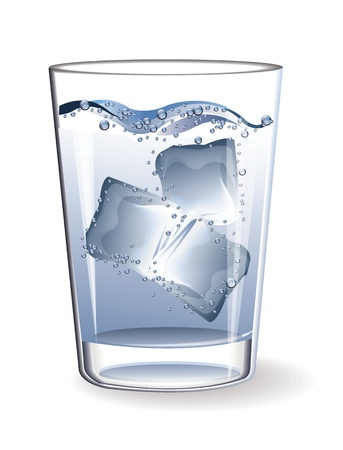 ice cubes: Glass water ice