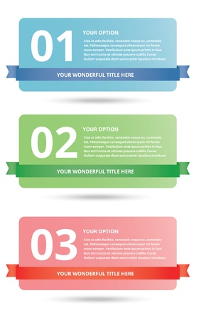 modern glossy web option banners Stock Vector - 20556779