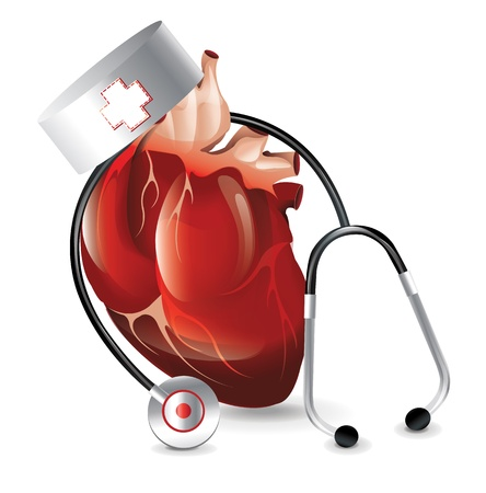 Realistic Heart Doctor  Illustration