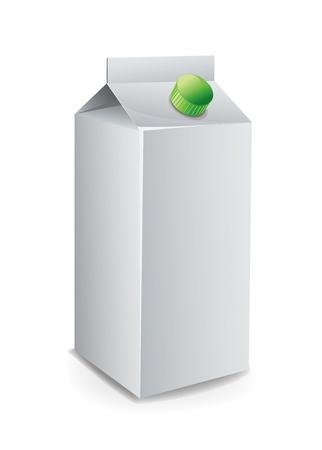 Milk Carton Template Vector