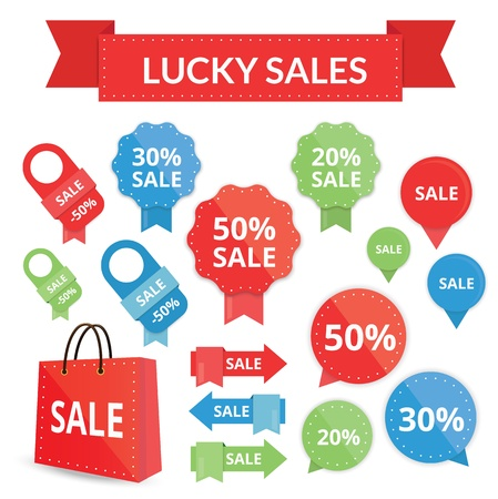 lucky sales set  Vector