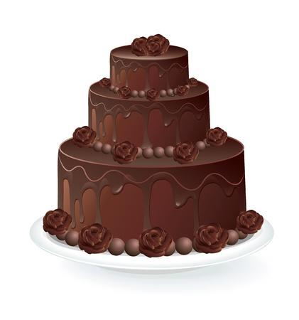 Ciasto czekoladowe Ilustracje wektorowe
