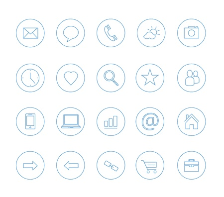 clean icons transparent blue Stock Vector - 20556743