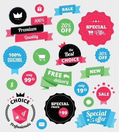 best price: Set of stickers and ribbons