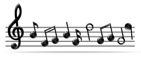 musical notation: Stave