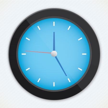 realistic black blue clock  Stock Vector - 20553802
