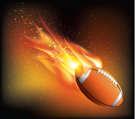 nfl football: Rugby Ball Fly