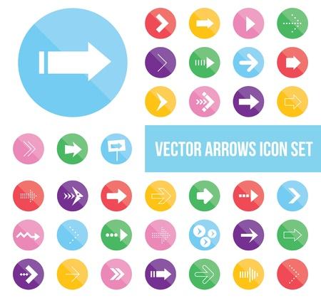 shiny arrow icons set Stock Vector - 20556794