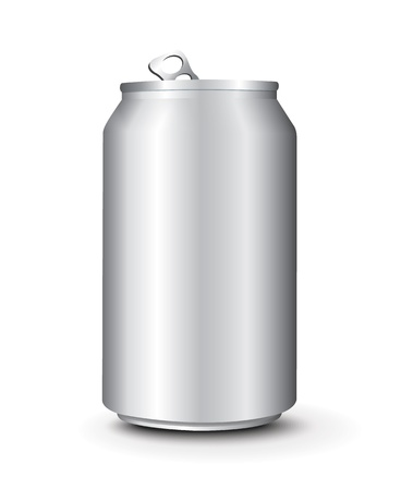cold storage: Aluminum Cans Template Illustration