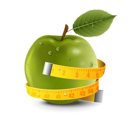 アップル センチメートル  イラスト・ベクター素材
