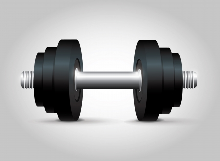 kilos: Black Dumbbell Illustration