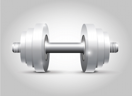 Dumbbell White  Vector