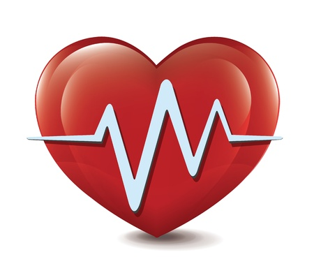 coeur sant�: coeur, cardiogramme Illustration