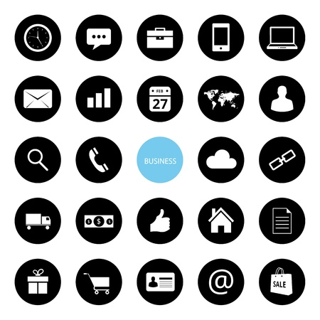 business and ecommerce icons set  Vector