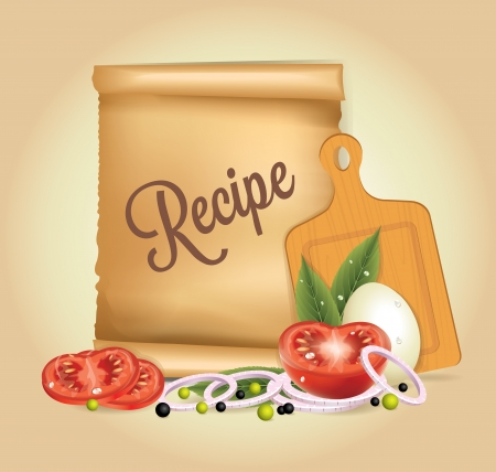 kitchen poster: Recipes Banner Illustration