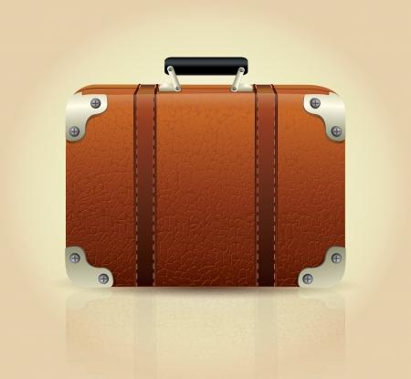 overnight: Leather Suitcase  Illustration