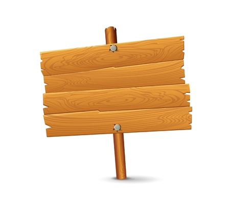 hanging sign: Wood Sign  Illustration