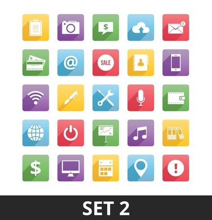 Universal Vector Icons Set 2  Stock Vector - 21177876