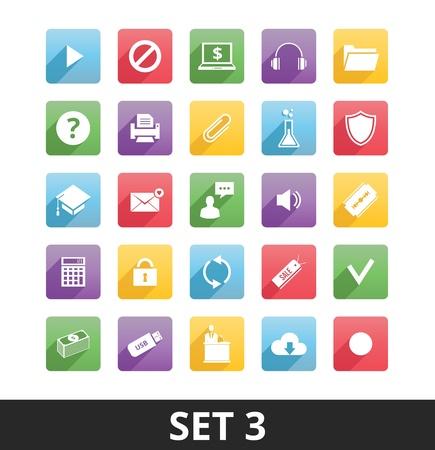 Universal Vector Icons Set 3 Stock Vector - 21177881