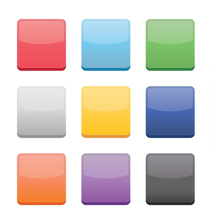 Blank Icons Templates for Web Mobile and Applications Stock Vector - 21177882
