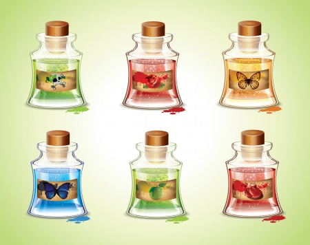 magic potion: Bottles Of Potions  Illustration