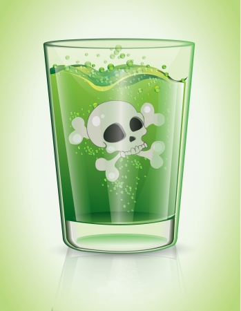 Glass Of Poison  Vector