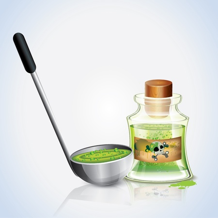 toxins: Jar Of Poison And Ladle