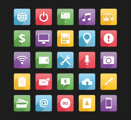 Set of Web Icons Stock Vector - 21569919