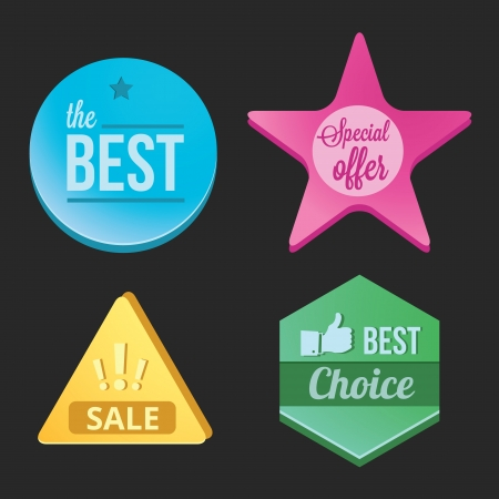 Modern Badges Set  Stock Vector - 21569923