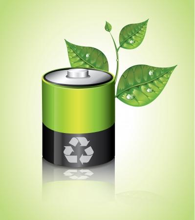 health symbol: Ecology Battery Illustration