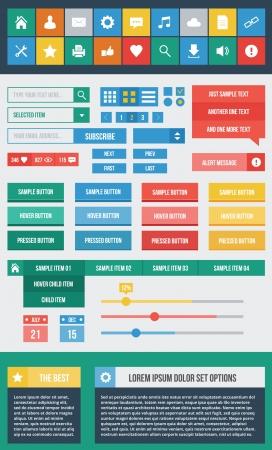 Modern UI Elements Set