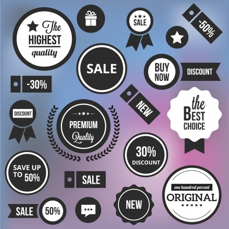 Trendy Badges Labels and Stickers